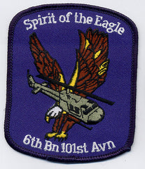 6th Battalion 101st Aviation Regiment SPIRIT OF THE EAGLE Military Patch