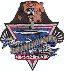 SSN-781 USS CALIFORNIA Fast Attack Nuclear Powered Submarine Military Patch