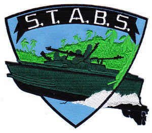 US NAVY SEALS STABRON 20 - S.T.A.B.S. MILITARY PATCH - VIETNAM ASSAULT BOAT