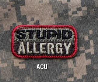 STUPID ALLERGY Hook Backing Patch - ACU