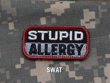 STUPID ALLERGY Hook Backing Patch - SWAT