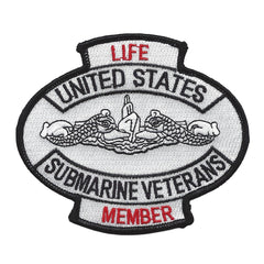 United States Submarine Veterans Life Member Military Patch