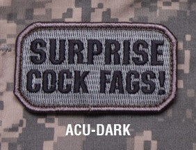 SURPRISE! ACU DARK BLACK OPS TACTICAL COMBAT BADGE MORALE VELCRO MILITARY PATCH