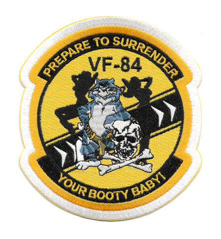 "Tomcat VF-84 ""Jolly Rogers"" Surrender Your Booty Baby Navy Patch"