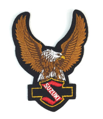 SUZUKI Eagle Upwings Motorcycle Vintage Patch