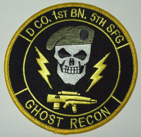 D CO 1ST BN 5TH SFG - GHOST RECON - SPECIAL FORCES MILITARY PATCH