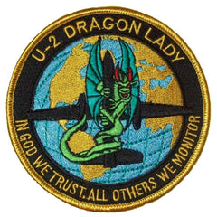 "USAF LOCKHEED MARTIN U-2 ""DRAGON LADY"" IN GOD WE TRUST MILITARY PATCH"