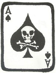 ACE OF SPADES - VIETNAM DEATH CARD - VETERAN BIKER & MILITARY PATCH 3""