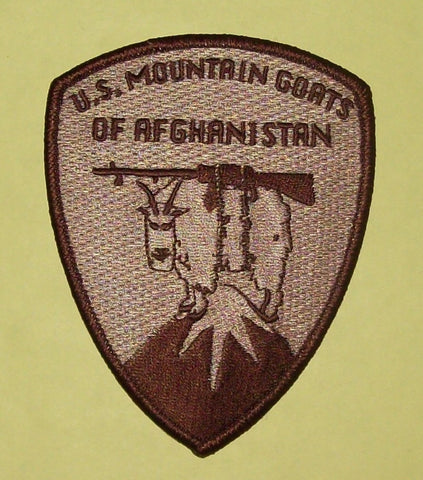 "ARMY "" MOUNTAIN GOATS OF AFGHANISTAN "" MILITARY PATCH"