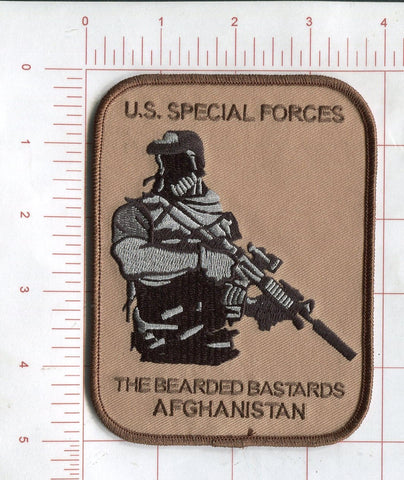 U.S. SPECIAL FORCES THE BEARDED BASTARDS AFGHANISTAN MILITARY PATCH