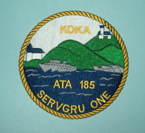 USS KOKA ATA 185 OCEAN TUG MILITARY PATCH - SERVGRU ONE