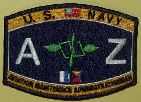 U.S. NAVY AVIATION MAINTENACE ADMINISTRATIONMAN - AZ - MILITARY RATING PATCH