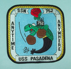 USS PASADENA SSN 752 SUBMARINE MILITARY PATCH - ANYTIME ANYWHERE