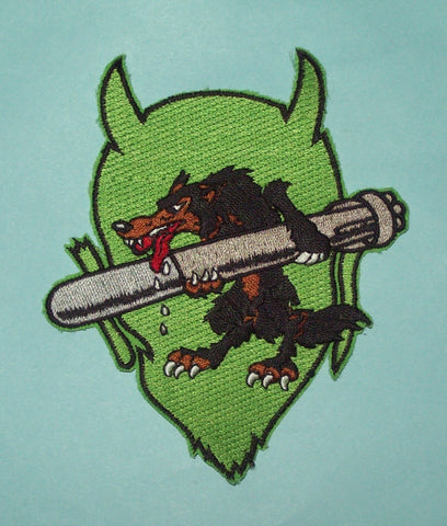 United States NAVY VT-84 Aviation Air Torpedo Squadron Military Patch DEVIL WOLF