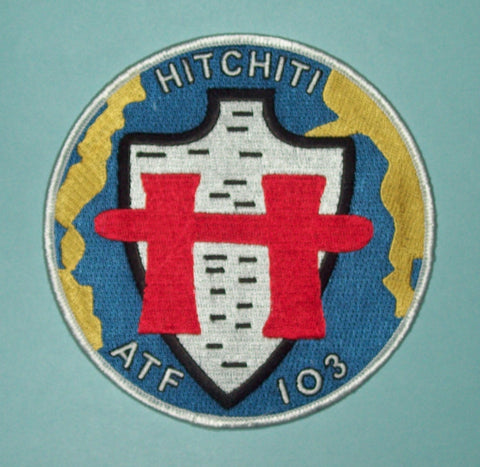 USS HITCHITI ATF 103 FLEET TUG MILITARY PATCH - US NAVY