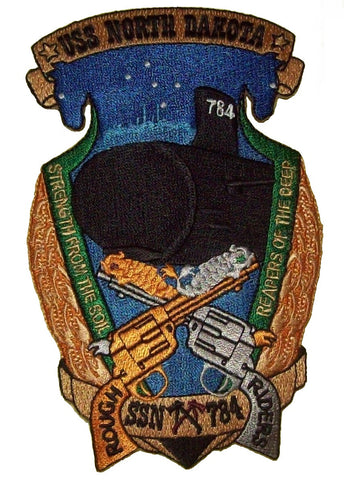 SSN-784 USS NORTH DAKOTA Nuclear Powered Fast Attack Submarine Military Patch