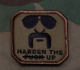 HARDEN UP - FOREST- TACTICAL COMBAT BADGE BLACK OPS MORALE VELCRO MILITARY PATCH