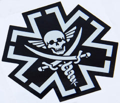 TACTICAL MEDIC PIRATE STICKER DECAL - SWAT