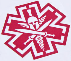 TACTICAL MEDIC SPARTAN STICKER DECAL - RED