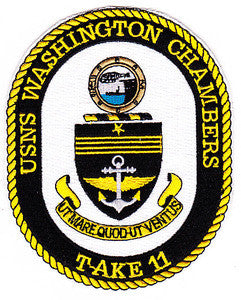 T-AKE 11 USNS WASHINGTON CHAMBERS Dry Cargo/Ammunition Ship Military Patch