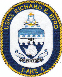 T-AKE 4 USNS RICHARD E BYRD Dry Cargo/Ammunition Ship Military Patch