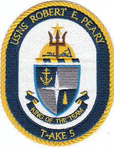 T-AKE 5 USNS ROBERT E PEARY Dry Cargo/Ammunition Ship Military Patch
