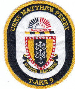 T-AKE 9 USNS MATTHEW PERRY Dry Cargo/Ammunition Ship Military Patch