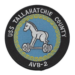 AVB 2 USS TALLAHATCHIE COUNTY TANK LANDING SHIP MILITARY PATCH