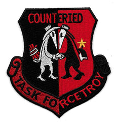 Task Force Troy Counter IED Patch - Red & Black