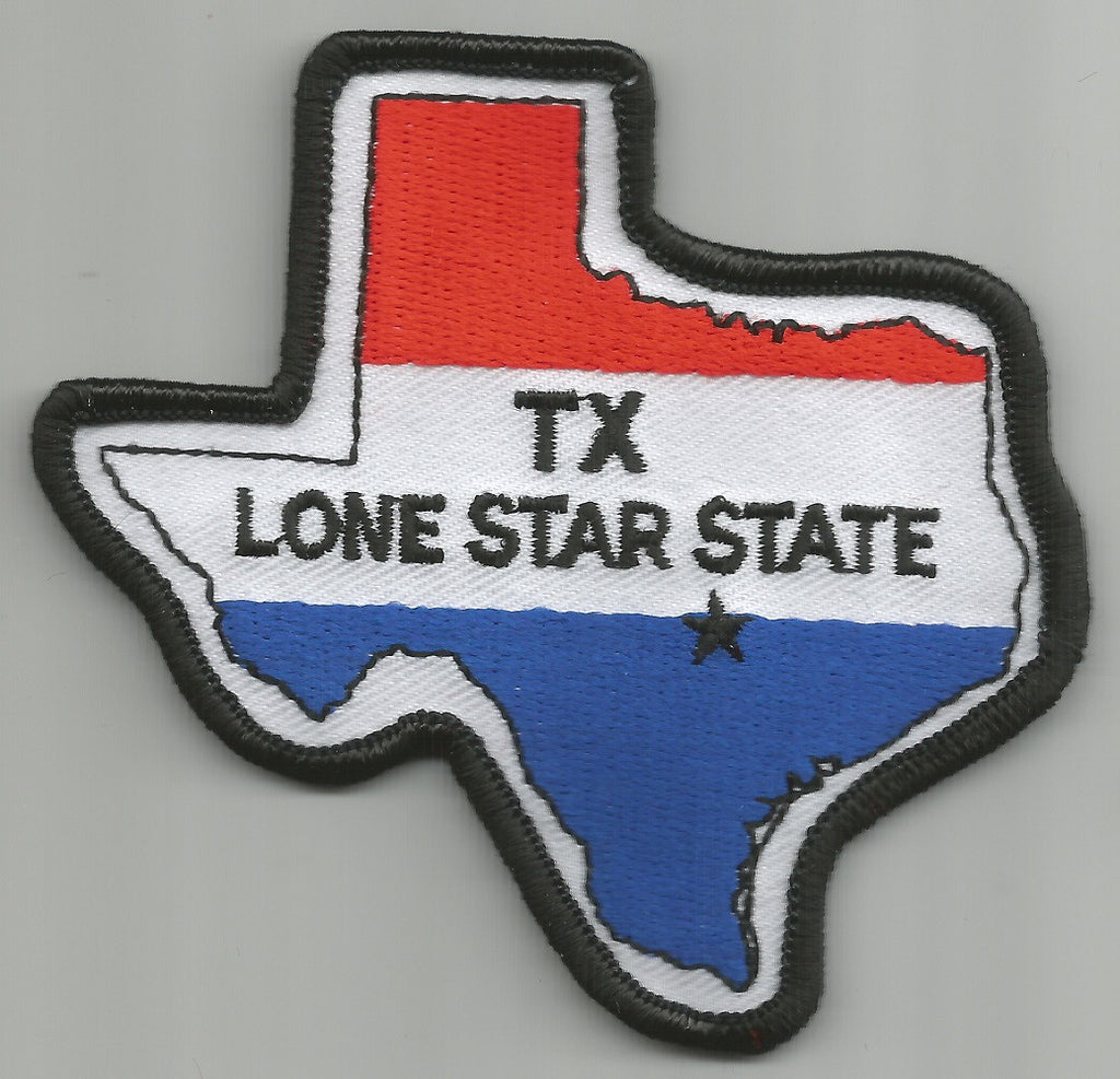 Texas The Lone Star State Usa Flag Patch Usmilitarypatch