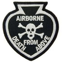 AIRBORNE DEATH FROM ABOVE SPADE MILITARY PATCH