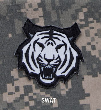 Tiger Head Morale Hook Backing Patch - SWAT