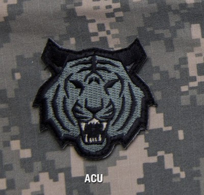 Tiger Head Morale Hook Backing Patch - ACU