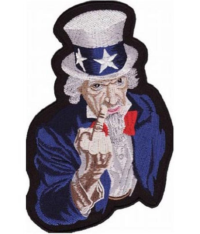 Uncle Sam Giving the Finger Patch