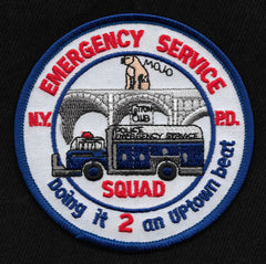 NYPD Squad 2 Emergency Service Collectors Patch - Doing it 2 an Uptown beat