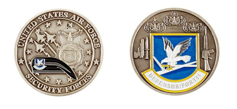 USAF Security Forces DEFENSOR FORTIS Challenge Coin