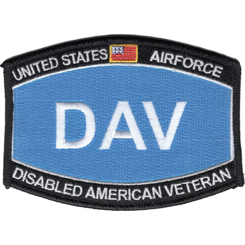 DISABLED AMERICAN VETERAN USAF DAV MILITARY PATCH