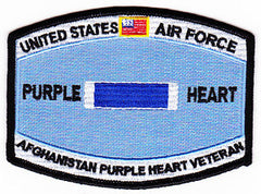 United States AIR FORCE Combat Wounded Military Occupational Specialty MOS Rating Badge of Military Merit Purple Heart Patch AFGHANISTAN VETERAN