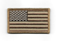 American Flag USA Hook Patch - Desert Brown