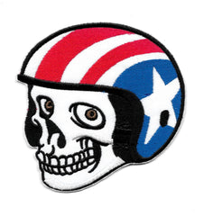 Easy Rider Biker Skull with Helmet Vintage Patch