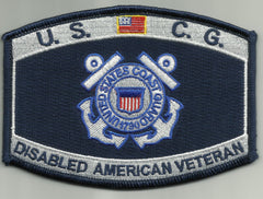 United States COAST GUARD USCG Disabled American Veteran Military Patch