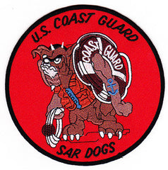United States Coast Guard SEARCH AIR RESCUE Military Patch SAR DOGS