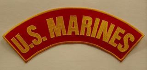 US MARINES TOP UPPER ROCKER PATCH - RED & ORANGE