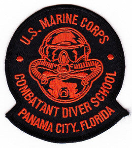 USMC COMBATANT DIVER SCHOOL MILITARY PATCH PANAMA CITY, FLORIDA