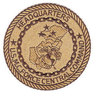 USMC FORCE CENTRAL COMMAND HEADQUARTERS MILITARY PATCH - OIF MARINE CORPS DESERT