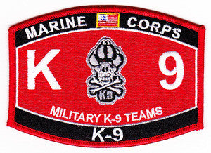 United States MARINE CORPS Military K-9 Teams MOS Military Patch - USMC