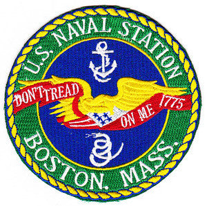 US NAVAL STATION BOSTON MASS Military Patch DON'T TREAD ON ME 1775