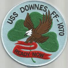 FF-1070 USS DOWNES Knox Class Frigate Military Patch - READY NOW