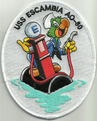 AO 80 USS ESCAMBIA Fleet Replenishment Oiler Military Patch JOSE CARIOCA PARROT
