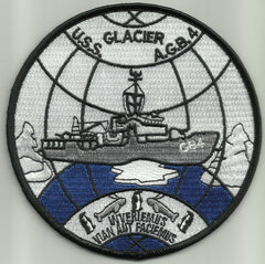 AGB-4 USS Glacier Wind-Class ICEBREAKER Military Patch INVERIEMUS VIAN AUT FACIEMUS